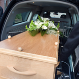 Transport de corps dans un cercueil